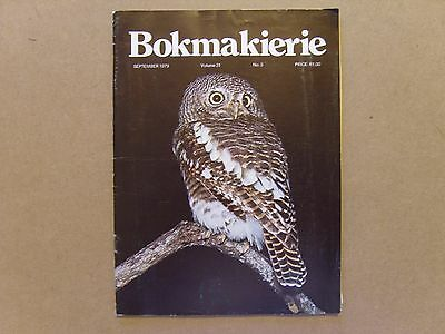 Bokmakierie Magazine - September 1979 - South African Ornithological Society