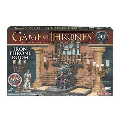 GAME OF THRONES Building Set IRON THRONE ROOM 313 Teile NEU Eiserner Thron