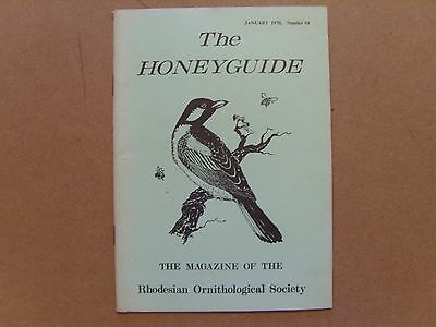 The Honey Guide - January 1970 - Magazine The Rhodesian Ornithological Society