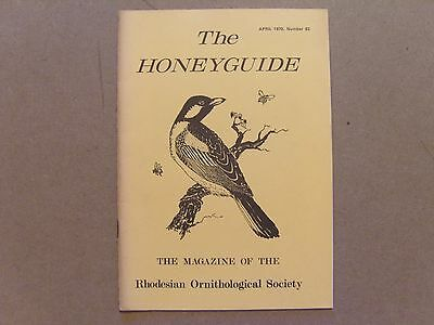 The Honey Guide - April 1970 - Magazine The Rhodesian Ornithological Society