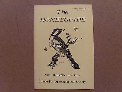 The Honey Guide - October 1970 - Magazine The Rhodesian Ornithological Society