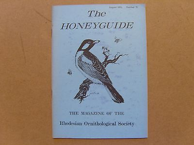 The Honey Guide - August 1972 - Magazine The Rhodesian Ornithological Society