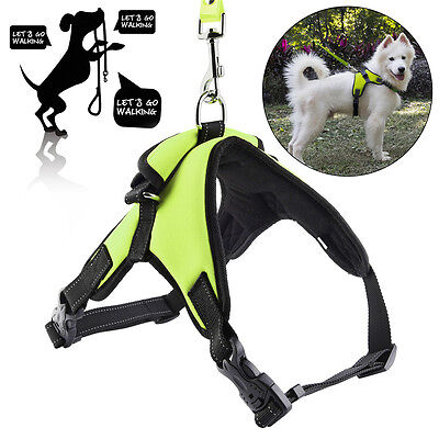 No Pull Adjustable Dog Pet Vest Harness Quality Nylon Small/Medium/Large/XL USA