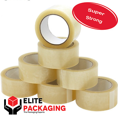 12x ROLLS OF CLEAR CELLOTAPE PACKAGING PARCEL WAREHOUSE HOME TAPE 48mm x 66m