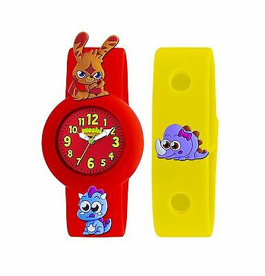 Moshi Monster Children's Quartz Watch with Red Dial Analogue Display AMMKA-0001