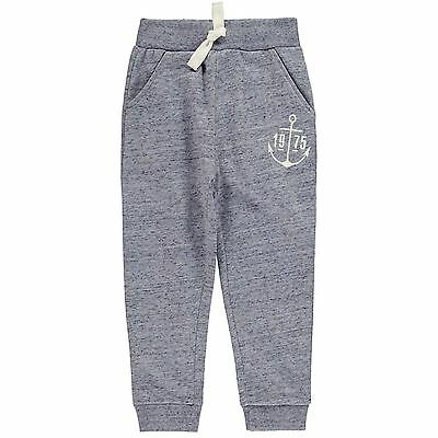 Crafted Kids Jogging Bottoms Trousers Pants Infant Boys Warm Cotton Print Jersey