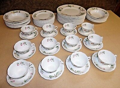 Minton Bone China England Dinner Set - Meadow Scalloped