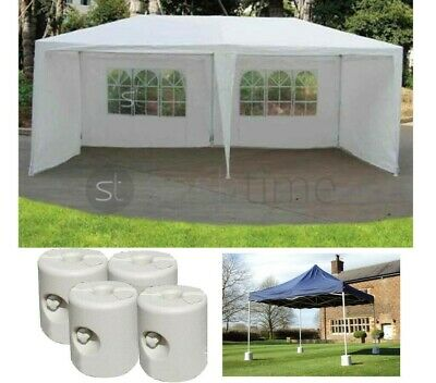 3M X 6M Garden Gazebo Tent Marquee Outdoor Party Awning Canopy / Weights Feet