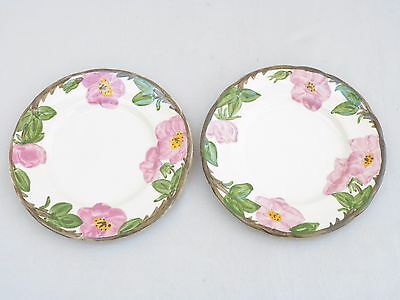 "Franciscan Desert Rose 7.5"" Salad Plates-2 total-Made in England"