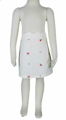 JACADI Girl/'s Cafeine Marshmallow Skirt w// Embroidery Size 10 Years NWT $52