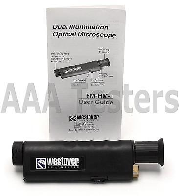 Westover FM-HM-1 200X Dual Illumination Fiber Optic Microscope FMHM1