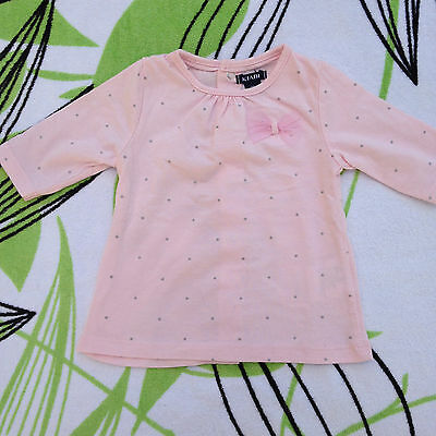 Adorable ☆☆☆ Petit T Shirt Top Rose Clair Bebe Taille 1 Mois ☆☆☆ Neuf