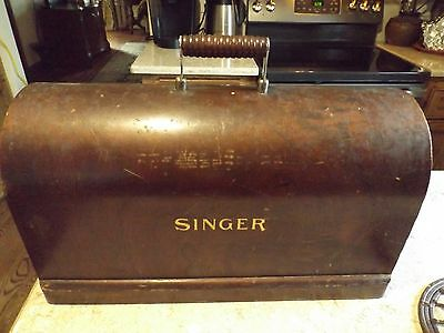 Vintage Singer Sewing Machine Bentwood Wood Dome Cover Lid Part