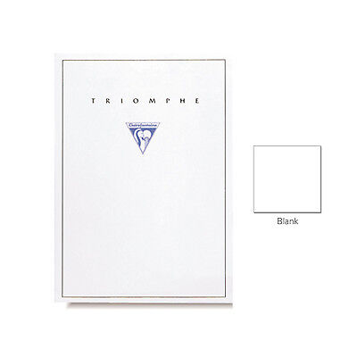 "Clairefontaine ""Triomphe"" Stationery Tablet, Blank, A5 (5.75"" x 8.25"")"