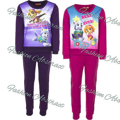 Nickelodeon Paw Patrol Girls Jogging Suit Track Suit Skye and Everest