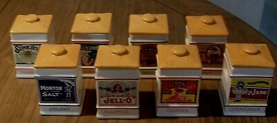 The Country Store Spice Jar Collection (8) Jars 1991/92