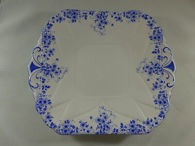 Vintage Shelley Fine Bone China DANITY BLUE, Cake Plate