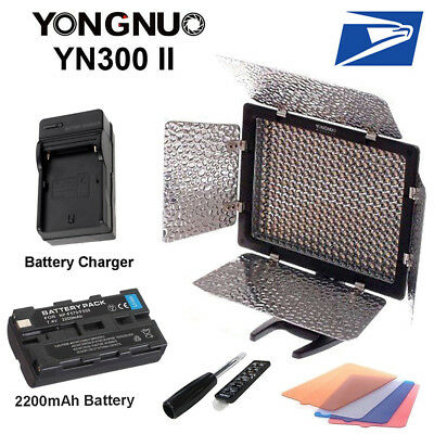 Yongnuo YN300 II 3200-5500k Pro LED Video Studio Light for C/N & F550 Battery US