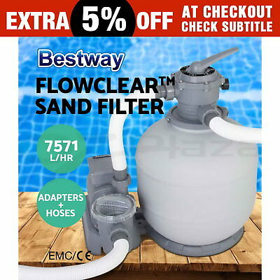 2000GPH Bestway Flowclear™ Sand Filter Swimming Above Ground Pool Cleaning Pump