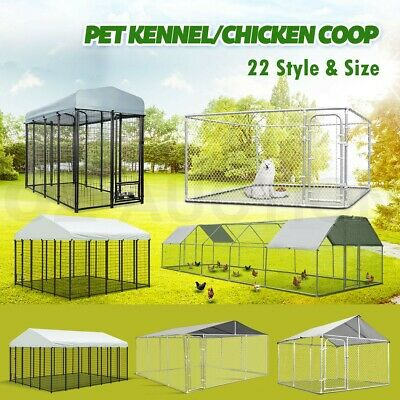 Large Pet Dog Kennel Enclosure Run Playpen Portable Exercise Metal Cage Fence