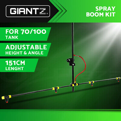 Giantz Weed Sprayer Boom Adjustable Angles Height ATV 4 Nozzles 151cm Pole PM