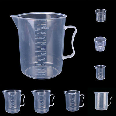 20 30 50 300 500 1000ML Plastic Measuring Cup Pour  Surface Kitchen Supplies UK