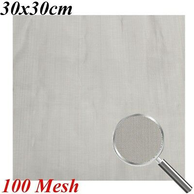 12x12''Stainless Steel 100 Mesh Wire Cloth Screen Water Filtration Filter Sheet