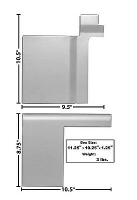R//H Fits 1966-77 Ford Bronco Weldable Primer Coated Wheelhouse Filler Plates