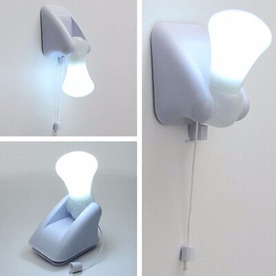 Night Adhesive Bedroom LED Lamp Wall Lamp Bulb Cabinet Lamp Battery operated