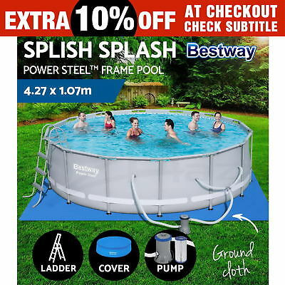 Bestway Power Steel™ Frame Swimming Pool Above Ground Filter Pump 4.27 x 1.07M
