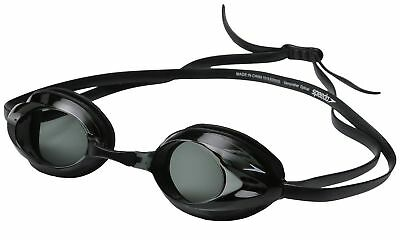 Speedo Vanquisher Optical Competition Swim Swimming Goggles Smoke Diopter -2.0