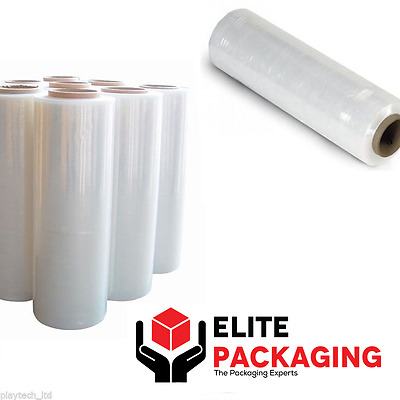 6 Strong Rolls Clear Pallet Stretch Shrink Wrap Parcel Packing Cling Film Sticky