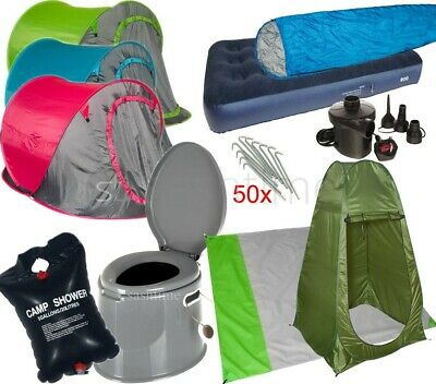Camping Range Accessories Tent Sleeping Bag Picnic Mat Shower Toilet Festival