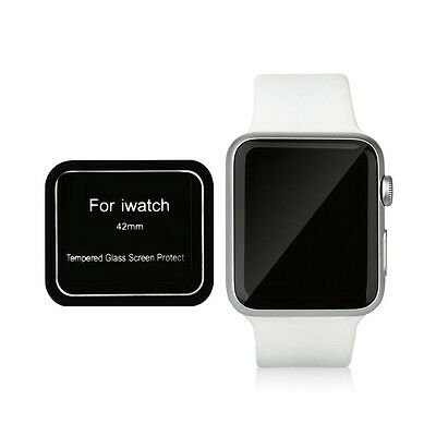 Brand New Tempered Glass Full Cover Screen Protector for Apple Watch 42mm