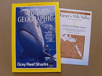 National Geographic Magazine - January 1995 - Nile Valley Double Map Included
