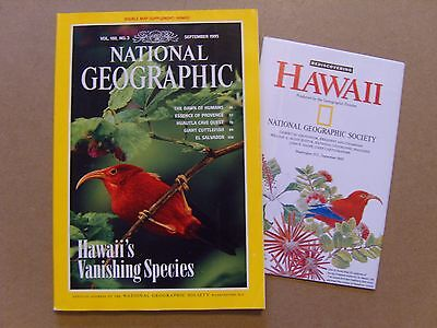 National Geographic Magazine - September 1995 - Hawaii Map Included