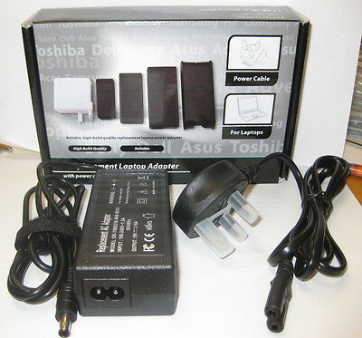 Replacement Laptop Charger Adapter With Power Lead Ac 19V 3.16A Cable Supply