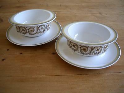 Susie Cooper - Venetia - 2 Soup Bowls and Saucers