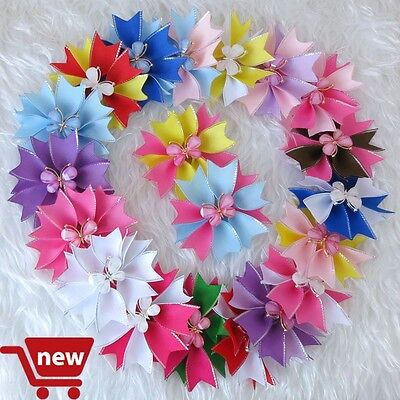"""50 Good Girl Baby 3.5"""" Butterfly Fairy Wing Hair Bow Clip Spring Easter 28 No."""