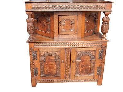 Antique Jacobean Period Cabinet, Cupboard Late 17th Century 45″H