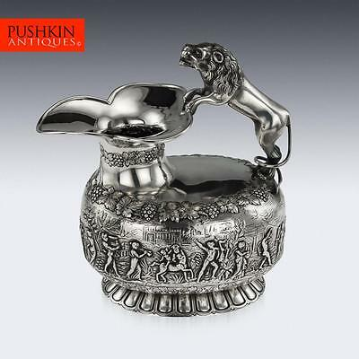 ANTIQUE 20thC ENGLISH SOLID SILVER EXCEPTIONAL WINE JUG, CHESTER c.1930