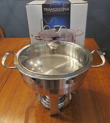 Used Tramontina 2 Qt Chafing Dish With Original Box Used One Time