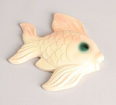 Vintage Chalkware Fish Plaque 1950's MCM Bathroom Decor Pink Wall MIDCENTURY
