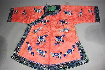 19th/20th C. Chinese Silk Embroidered Child's Robe