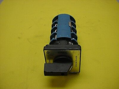 Kraus & Naimer C42 3Pole Rotary Switch 65Amp 600Vac With Ca4 2 Position Switch