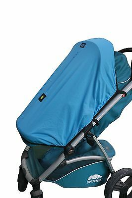 Stroller Sun UV Shade Blind Universal Fit 3/4 Weel Prams Pushchairs Buggy - BLUE