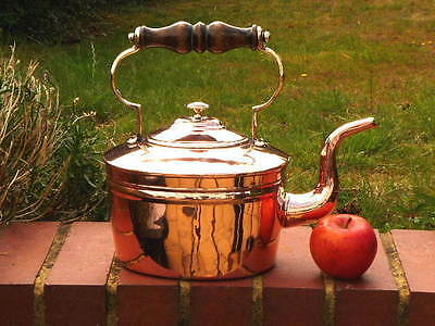 ANTIQUE GEORGIAN 4 pint COPPER ENGLISH  KITCHEN KETTLE c.1800