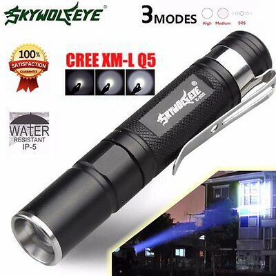 Portable 4000LM Zoom Q5 LED 3 MODU torcia elettrica Super Torch Luce con clip