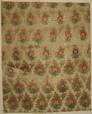 Antique Beautiful 18th C. French Silk Woven Jacquard Fabric (9107)