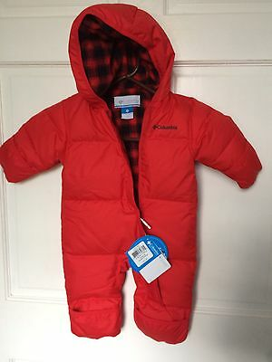 Columbia Red Down Snowsuit NWT Size 3-6 Months